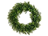 6 Artificial 17'' Boxwood Wreath In Outdoor Grass Hedge Wall Patio Plant Decor