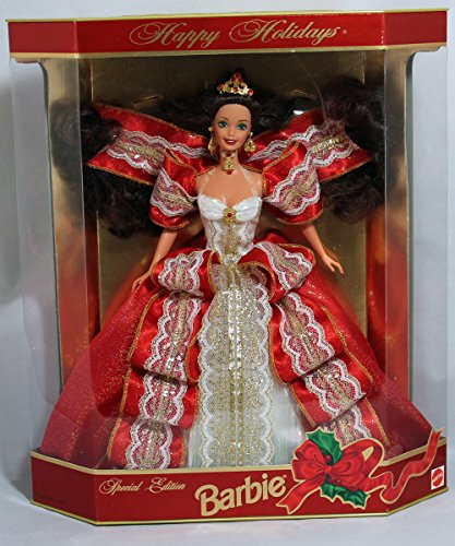 Happy Holidays Barbie Doll - Special Edition 10th Aniversary Hallmark 5th in Series (1997)