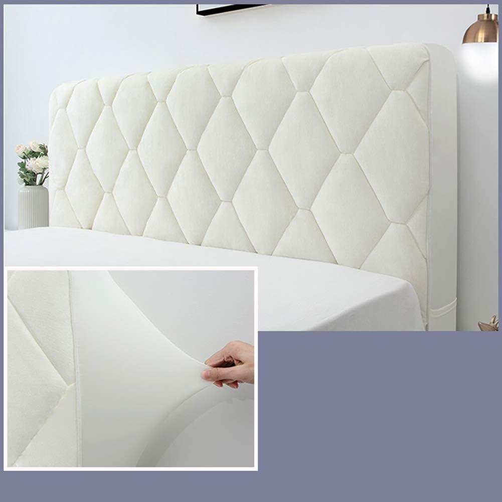 Blanc YXZN Housse de t/ête de lit Housse Anti-poussi/ère en Tissu de Coton Stretch Housse de Protection de Chevet Tout-Inclus pour t/ête de lit Double//compl/ète//tr/ès Grande