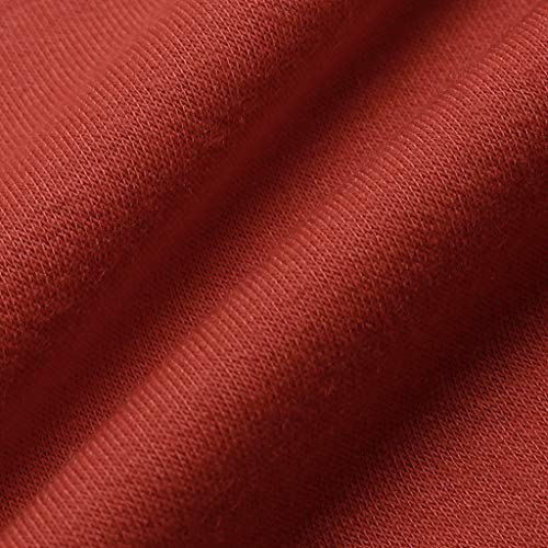 Algodón Color Lino Encaje Para 3 La Mujer Mujer Bazhahei neck Sólido Orange O Camiseta Tops Womens Camiseta Tamaño Larga De Manga Blusa Patchwork Gran Corta Y 044a1U