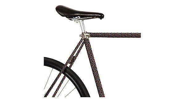 MOOXIBIKE Fahrradfolie mit Muster für Rennrad Lámina para Bicicleta de Carreras, Negro, 1 x 150 x 13 cm: Amazon.es: Deportes y aire libre