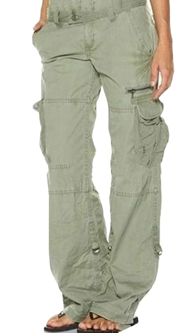 aa0816efff Top1: Bigbarry Womens Combat Sport Breathable Multi-Pocket Rugged Baggy  Cargo Pants