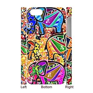 Aztec Elephant 3D-Printed ZLB533321 Customized 3D Phone Case for Iphone 4,4S
