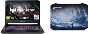 Acer Predator Triton 500 PT515-52-71K5 Gaming Laptop, Intel Core i7-10750H with Acer Predator Ice Tunnel Mousepad