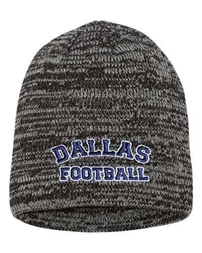 - Go All Out One Size Grey/Charcoal Adult Dallas Football Embroidered Marled Knit Beanie Cap