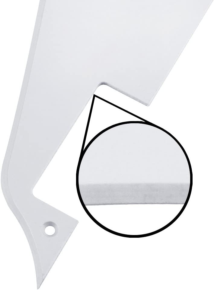 Cream /& Golden Bracket Fit Gibson Les Paul Pickguard Replacement FLEOR 4Ply Aged Pearl Guitar Pickguard Scratch Plate Back Plate Guitar Screws Set /& Toggle Switch Plate
