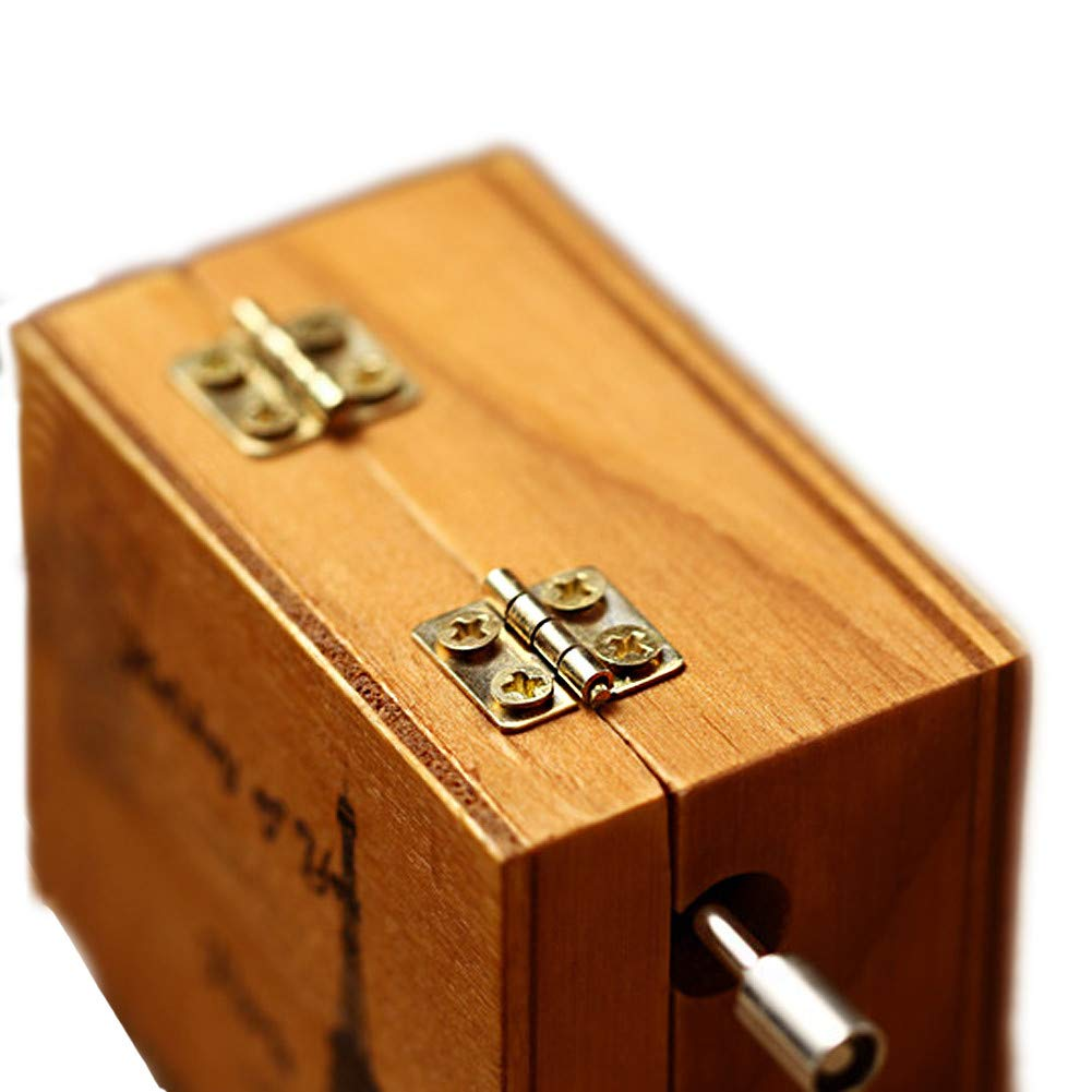 Toy Gift SO-buts Windup Wooden Music Box,Paris Classical Carved Mechanism Windup Musical Box,Craft A, WxHxD: 4x6.3x5.5cm