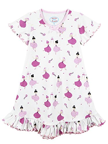 Sara's Prints Little Girls' Short Sleeve Nightgown, Petite Ballet, 5 - Sara Girls Clothing