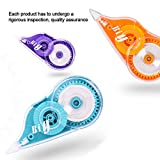 Happlee 6 Pack Correction Tape with Grip Eraser
