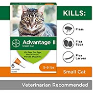 Flea Prevention for Cats, 5-9 lb, 6 doses, Advantage II