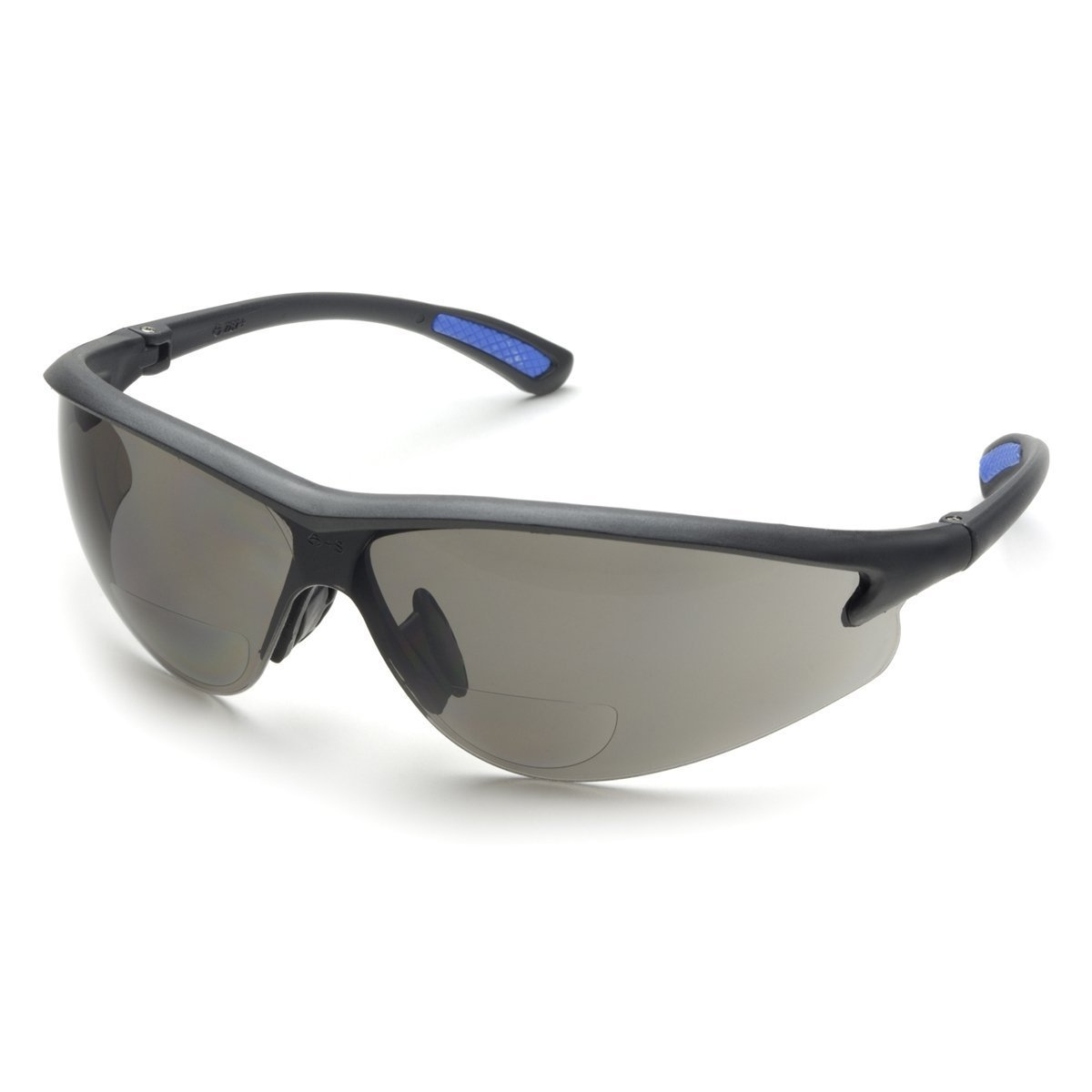 Elvex Bifocal Reading Safety Glasses in Polycarbonate Gray Lens 2.5 Diopter