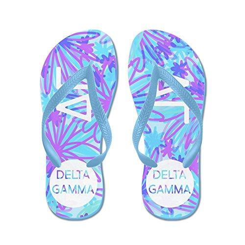 Cafepress Delta Gamma Paars - Flip Flops, Grappige String Sandalen, Strand Sandalen Caribbean Blue