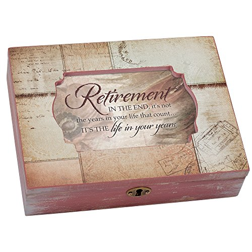 Cottage Garden Retirement Life in Your Years Passport Decoupage Music Box Plays ()
