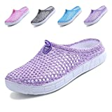 Lewhosy Women's Garden Clogs Shoes Slippers Sandals Quick Drying Lightweight Breathable(37/Purple)