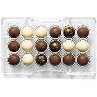 Decora Stampo Cioccolatino 1/2 Sfera, Policarbonato, Trasparente