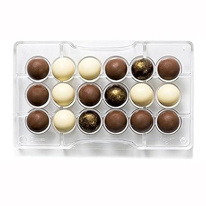 Decora Molde de Chocolate 1/2 de Esfera, de policarbonato, Transparente, diámetro