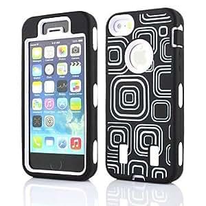 DUR Grid Rugged Heavy Duty Hybrid Case Cover Full Body for iPhone 5/5s , Orange