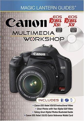 buy canon eos rebel xsi eos 450d eos rebel xs eos 1000d multimedia rh amazon in Canon XS Manual PDF Canon Rebel Owner's Manual