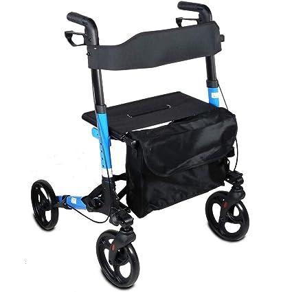 Mobiclinic Andador para Ancianos | De 4 Ruedas | Rollator para Mayores | Plegable | Incluye
