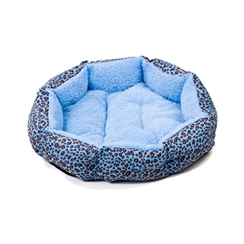 haoricu Pet Bed, Dog Bed Pet Leopard Print Cushion Dog Cat Soft Warm Sleep Mat Dog Bed Matelas Nest Mat pet Bed House Chien (Blue) For Sale