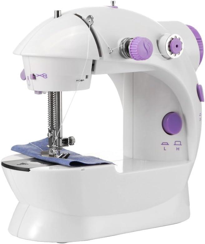 HaavPoois Machine /à Coudre /électrique Vitesse R/églable Portable Petite Machine /à Coudre Domestique Outils De Couture en Tissu Bricolage