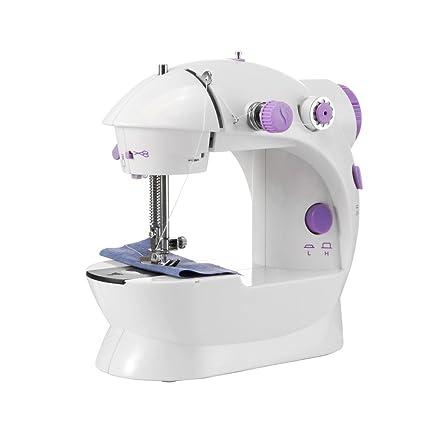 Sunsbell Herramienta de coser domésticas Mini portátil de mano Máquinas de coser Overlock Máquina de coser