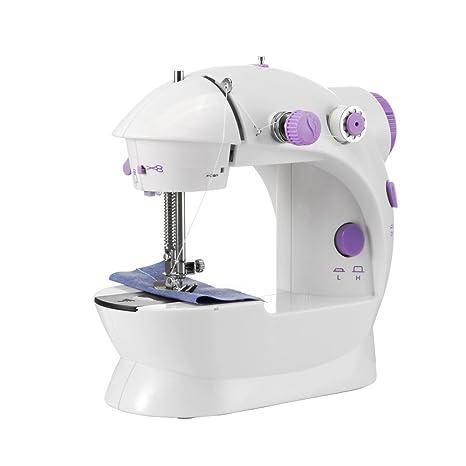 OurLeeme Mini Máquina de coser eléctrica Máquina portátil de 2 velocidades Máquina de coser a medida