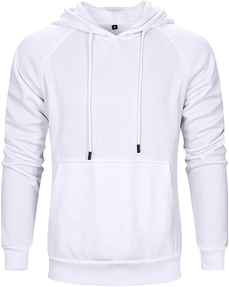 LBL ASALI Mens Casual Hoodies Solid Color Sports Pullover Soft Hooded Sweatshirt Outwear Sweater