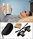 Andux Periscope Glasses Easy Lie Down in the Bed for Reading Book Bed Prism Spectacles with Case and Cloth Lr/01