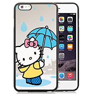 Beautiful Custom Designed Cover Case For iPhone 6 Plus 5.5 Inch With Hello Kitty Holding An Umbrella Phone Case