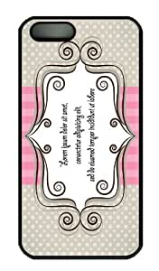 Hot iPhone 5S Customized Unique Print Design Lovely Pink And Gray Card Design New Fashion PC Black iPhone 5/5S Cases
