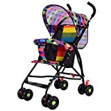 Baby Four-Wheeled Pram Pushchair Foldable Lightweight Travel Buggy High View Travel System Carriage Load Capacity 15 kg