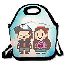 Bakeiy UNDERTALE Friends Lunch Tote Bag Lunch Box Neoprene Tote For Kids And Adults For Travel And Picnic School