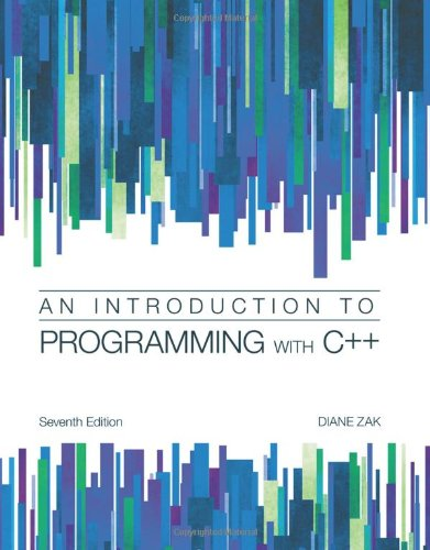 Introduction to Programming with C++ by Cengage Learning