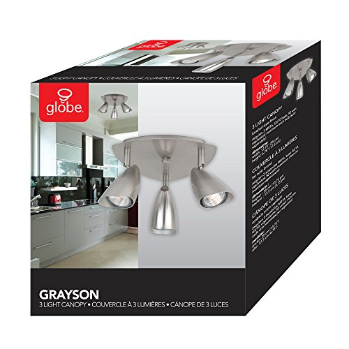 Globe Electric Grayson 3-Light Canopy Track Lighting Kit, Brushed Steel Finish, 58929 by Globe Electric (Image #7)