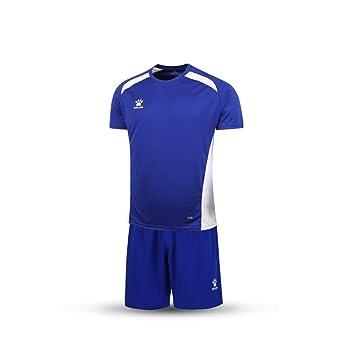 KELME - Camiseta de Manga Corta para Hombre con Estampado Personalizado, Azul/Blanco,