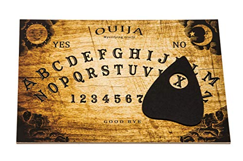 Wooden Classic Ouija Spirit hunt Board game with Planchette and detailed...