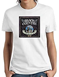 Women Black Country Communion Casual Style Short Sleeve Tees Girl Sports T-Shirt White