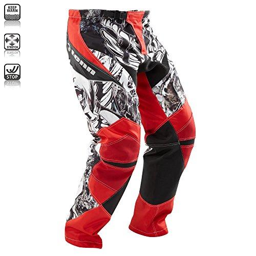 Tenn Mens Rage MX/DH/BMX Off Road Race Cycling Pants - Red - 2XL