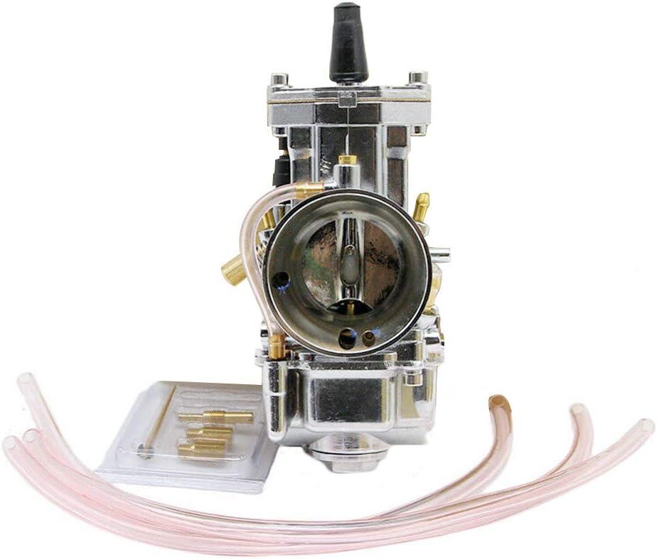 Tickas Carburetor Carb,Universal PWK Power Jet Carburetors Carb Flat Slide Kit 30mm