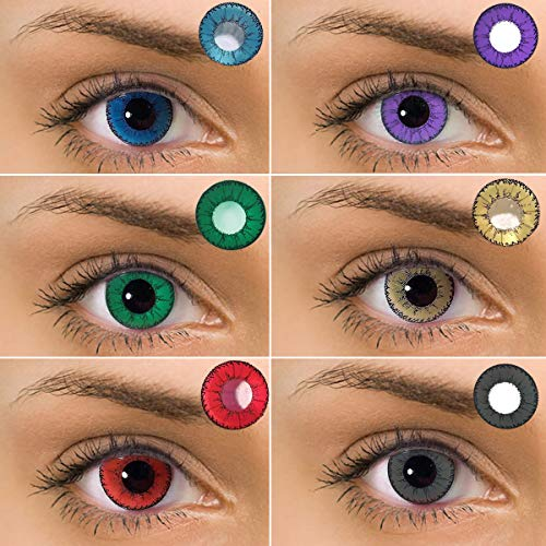 rm and Attractive Fashion Contact Lenses Cosmetic Makeup Eye Shadow Pure Sterling Purple(1 Pair) ()