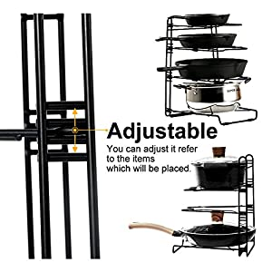 Pans and Pots Rack Lips Holder Detachable Kitchen Cabinet Organizer Stand