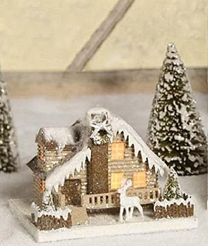 Bethany Lowe Medium Woodland Cottage, Deer