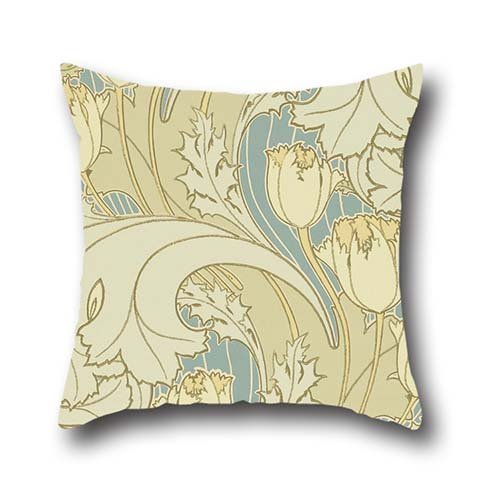 Pillowcase 18 X 18 Inches / 45 By 45 Cm(twice Sides) Nice Choice For Monther,birthday,chair,bench,living Room,kids Oil Painting Charles Francis Annesley Voysey - Tulip Francis Abstract Painting
