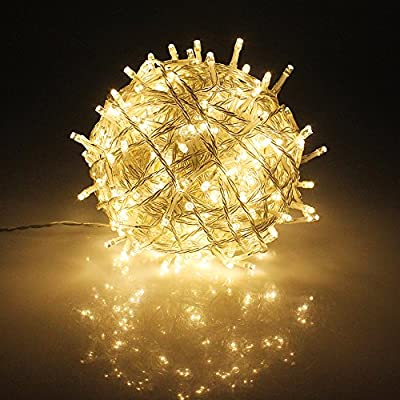 RPGT 100 to 1000 LEDs Clear Wire 30V Low Voltage Fairy String Tree Lights 8 modes Memory Function IP44 Waterproof for Wedding, Home Decoration, Christmas Party, Patio, Garden etc.