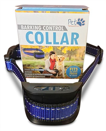 NO SHOCK Humane Bark Control Collar, 7 Different Bark Sensitivity Levels, Extremely Effective with No Pain or Harm, Bark Training Collar Vibration, For dogs 10-120lb Dogs. Neck size 8.34in to 24.5in