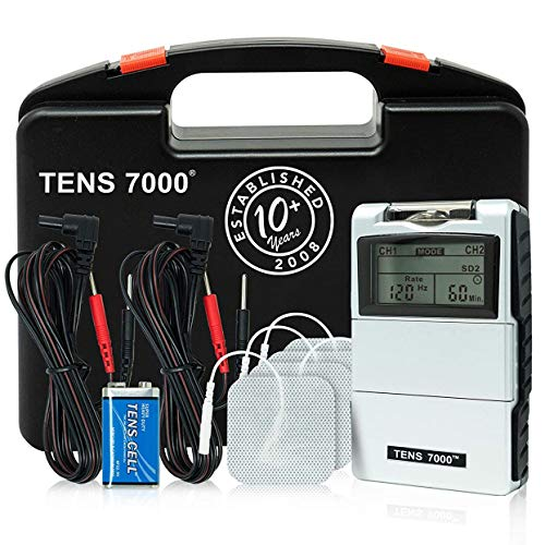 TENS 7000 Digital TENS Unit With Accessories – TENS Unit Muscle Stimulator For Back Pain, General Pain Relief, Neck Pain…