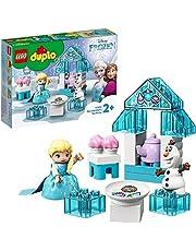 LEGO 10920 DUPLO Princess Elsa's en Olaf's Theefeest Bouwset met Cupcakes en Theepot, Bouwset voor Kleuters van 2 Jaar en Ouder