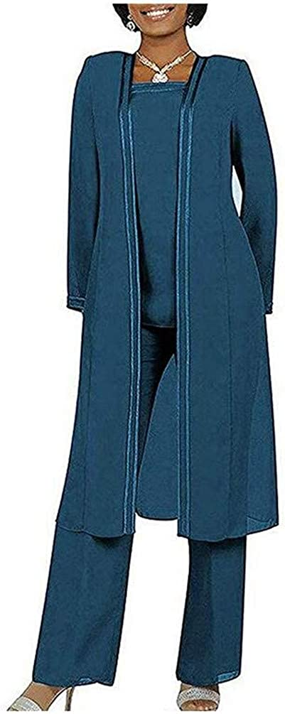 famous National products Women's 3 PC Chiffon Pants Suits Mother's Outfit Plu Wedding for