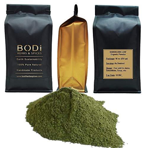 BODi : Dandelion Leaf - 100% Pure Organic Powder (4 8 16 32 oz) Superfood Immune Boost Digestion Cleanse (4 oz)